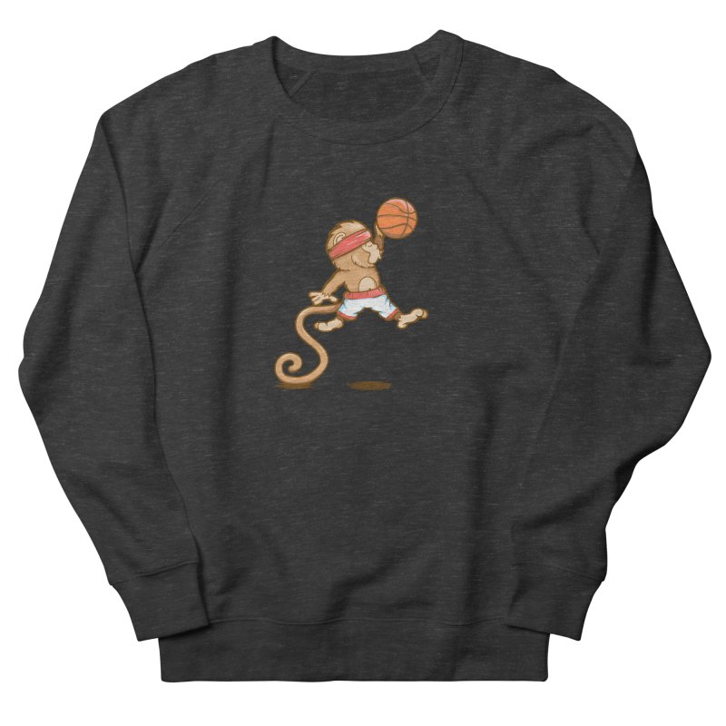 Monkey baller Men's Sweatshirt by wuhuli's Artist Shop
