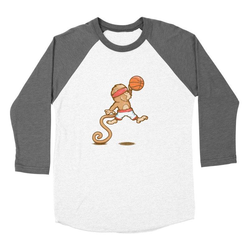 Monkey baller Women's Baseball Triblend T-Shirt by wuhuli's Artist Shop