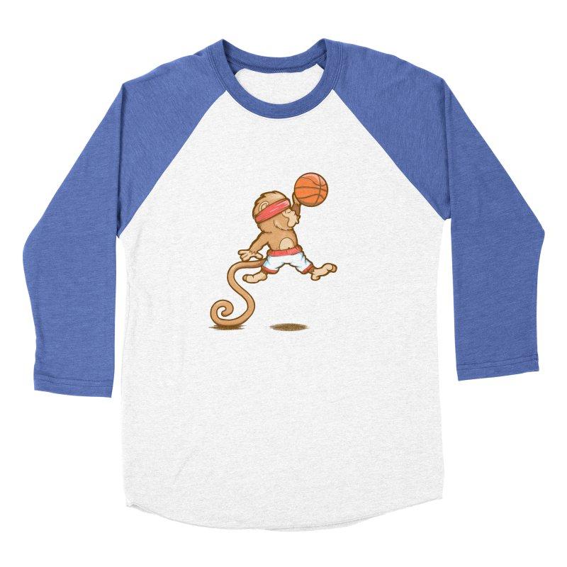 Monkey baller Men's Baseball Triblend T-Shirt by wuhuli's Artist Shop