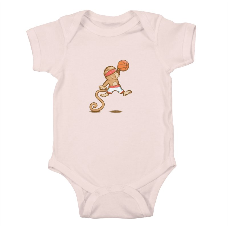 Monkey baller Kids Baby Bodysuit by wuhuli's Artist Shop