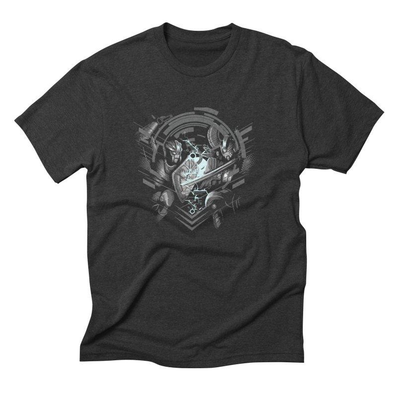 Cyber Duel in Men's Triblend T-Shirt Heather Onyx by wuhuli's Artist Shop