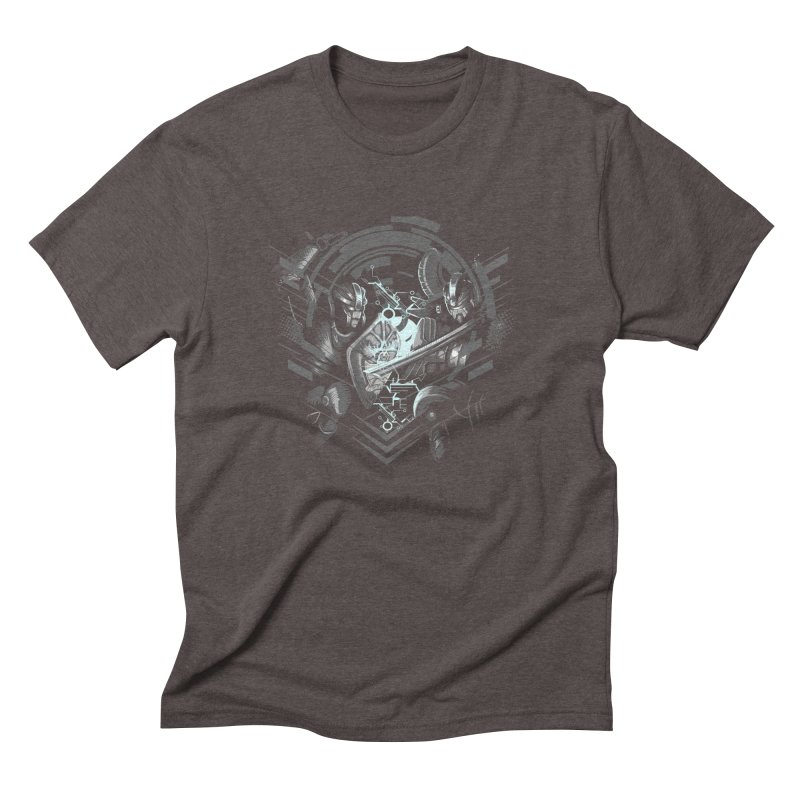 Cyber Duel Men's Triblend T-shirt by wuhuli's Artist Shop