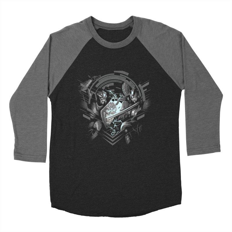 Cyber Duel Men's Baseball Triblend T-Shirt by wuhuli's Artist Shop