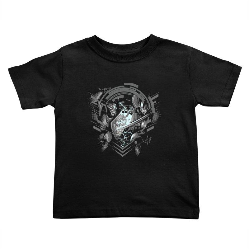 Cyber Duel Kids Toddler T-Shirt by wuhuli's Artist Shop