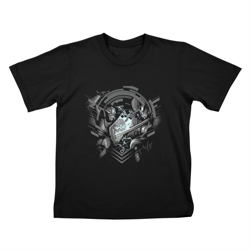 Cyber Duel Kids T-Shirt by wuhuli's Artist Shop