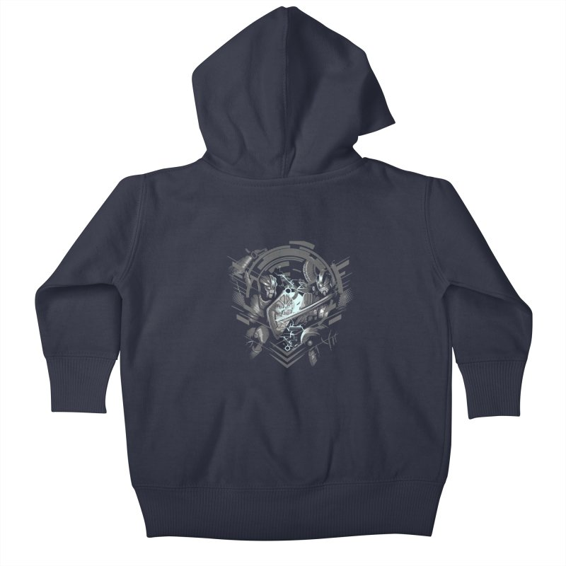 Cyber Duel Kids Baby Zip-Up Hoody by wuhuli's Artist Shop