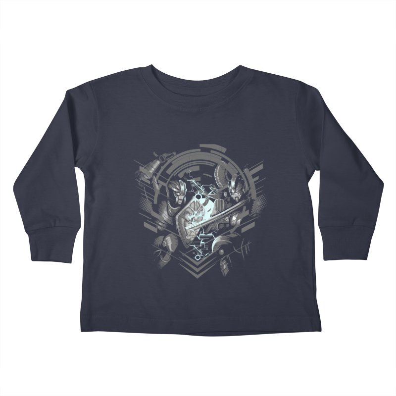 Cyber Duel Kids Toddler Longsleeve T-Shirt by wuhuli's Artist Shop