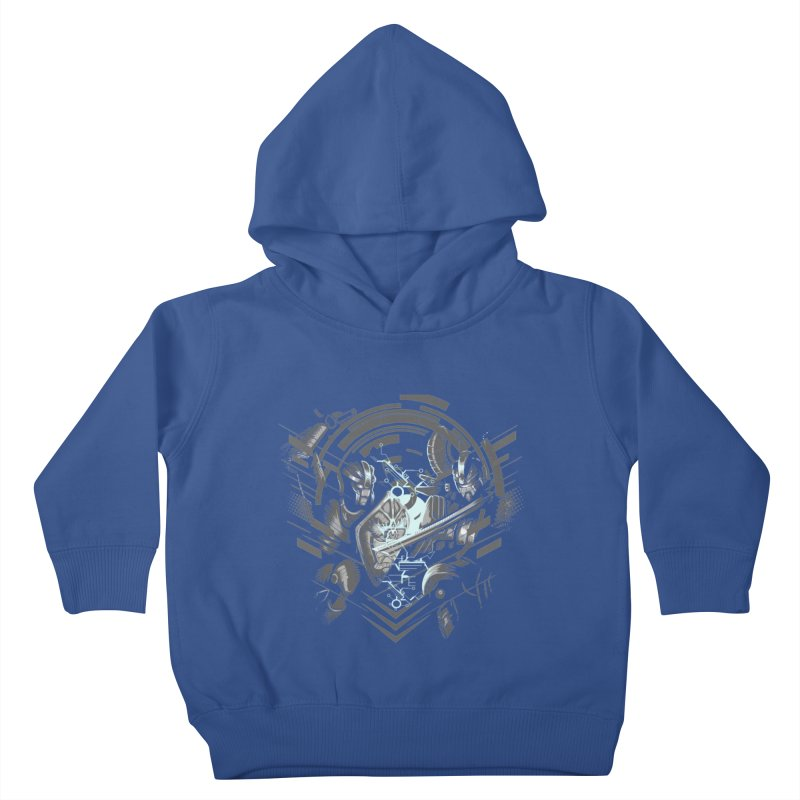 Cyber Duel Kids Toddler Pullover Hoody by wuhuli's Artist Shop