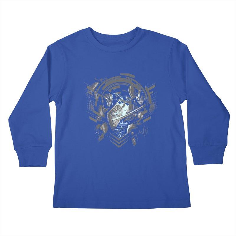 Cyber Duel Kids Longsleeve T-Shirt by wuhuli's Artist Shop
