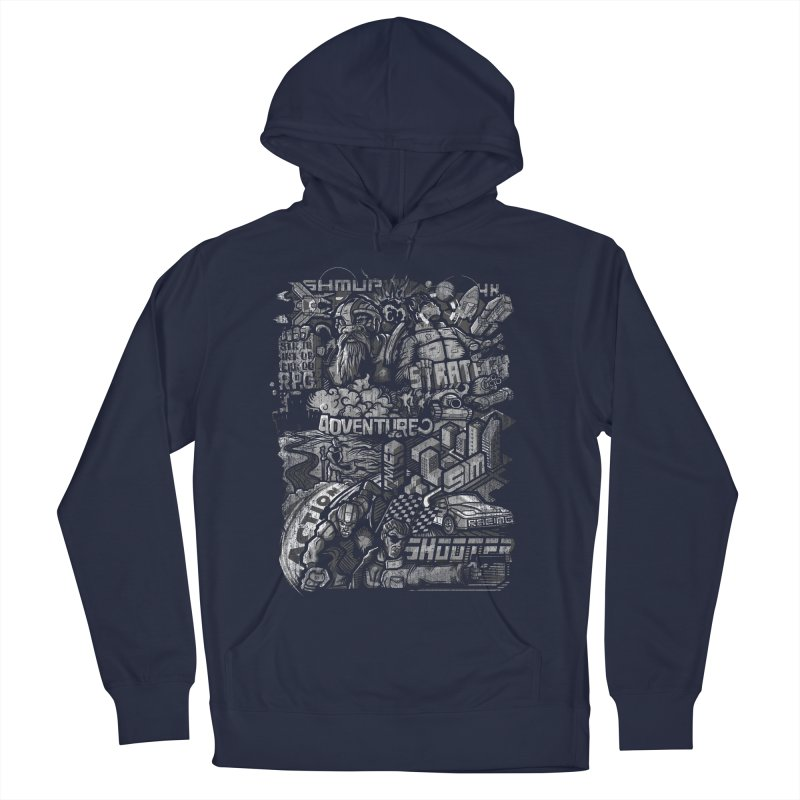 All round gamer Men's Pullover Hoody by wuhuli's Artist Shop