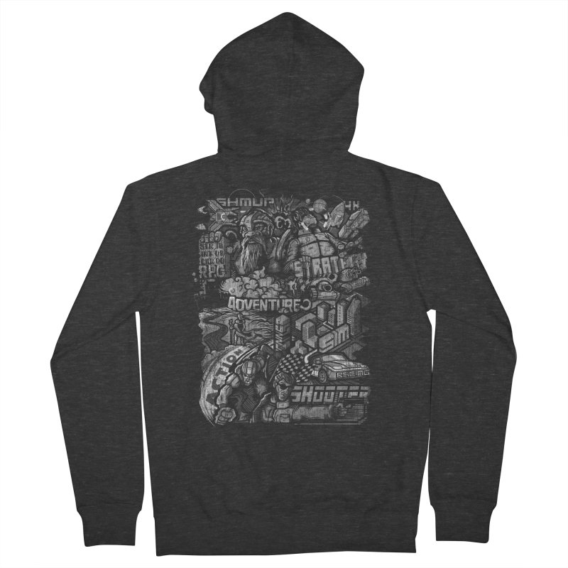 All round gamer Men's Zip-Up Hoody by wuhuli's Artist Shop