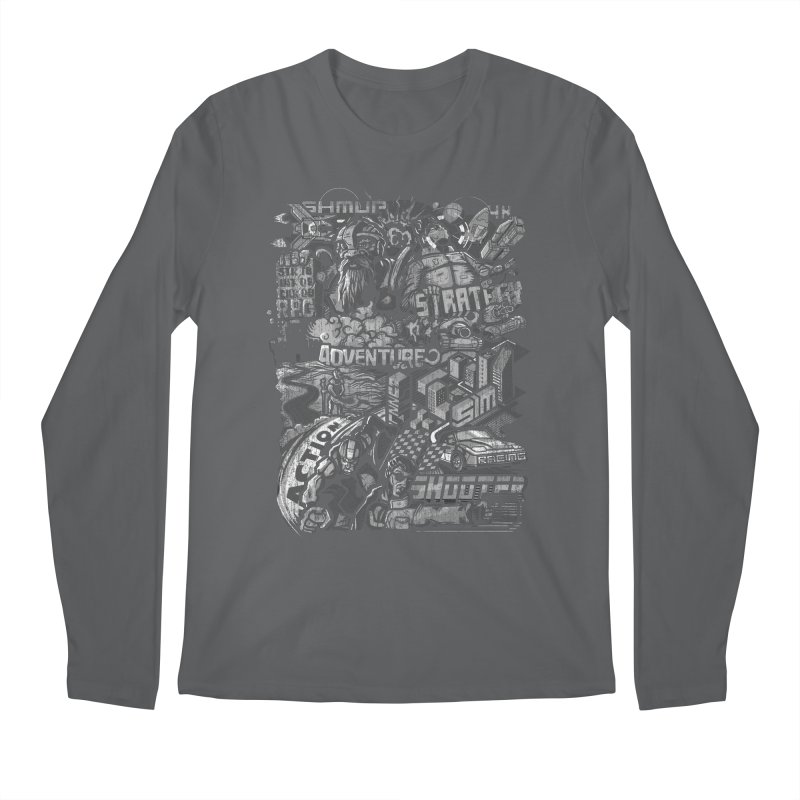 All round gamer Men's Longsleeve T-Shirt by wuhuli's Artist Shop