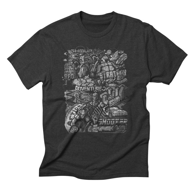 All round gamer in Men's Triblend T-shirt Heather Onyx by wuhuli's Artist Shop