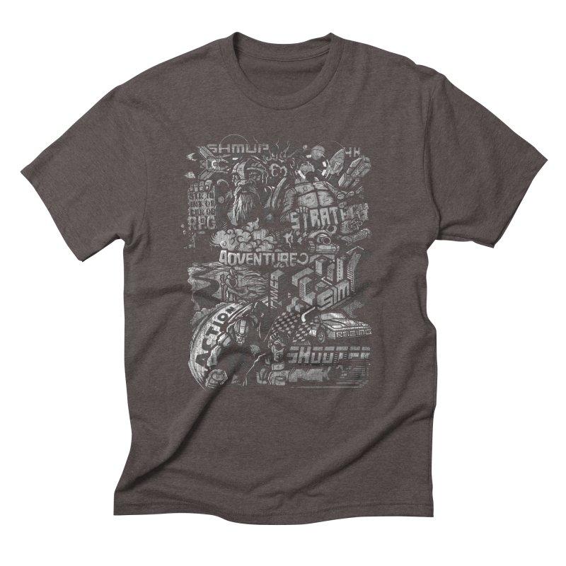 All round gamer Men's Triblend T-shirt by wuhuli's Artist Shop