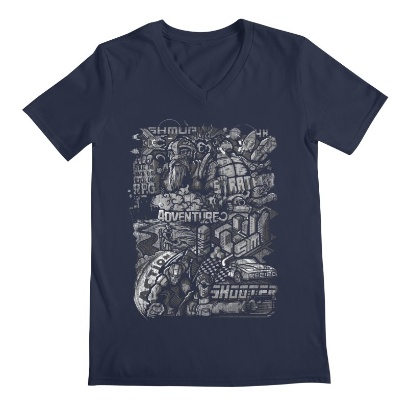 All round gamer Men's V-Neck by wuhuli's Artist Shop