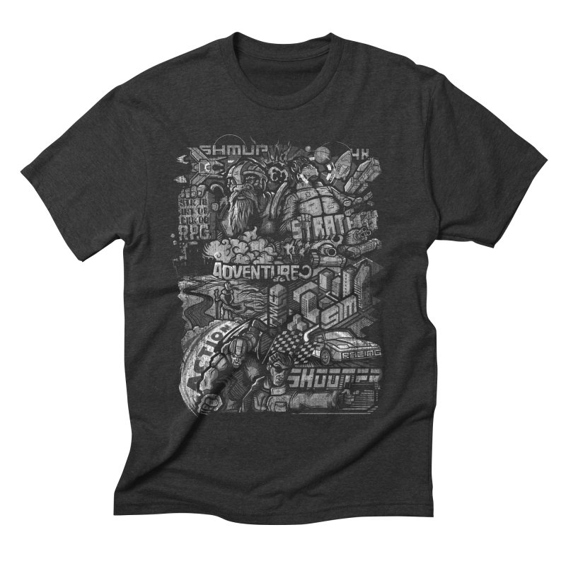 All round gamer Men's Triblend T-shirt by wuhuli's Artist Shop