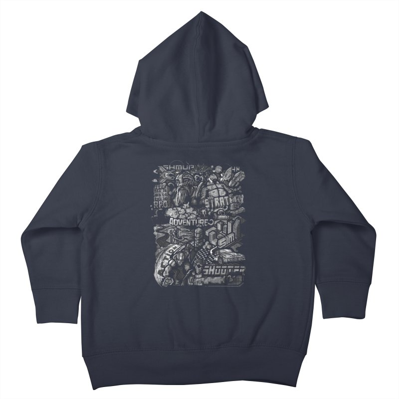 All round gamer Kids Toddler Zip-Up Hoody by wuhuli's Artist Shop