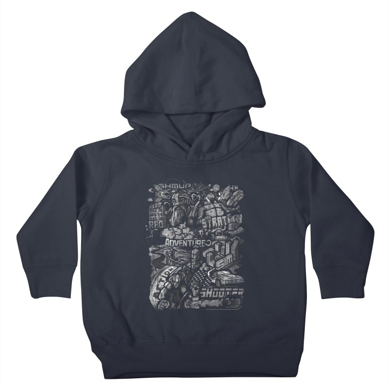 All round gamer Kids Toddler Pullover Hoody by wuhuli's Artist Shop