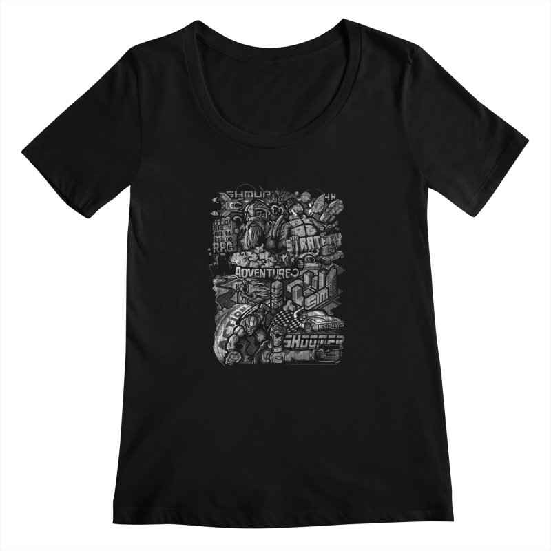 All round gamer Women's Scoopneck by wuhuli's Artist Shop