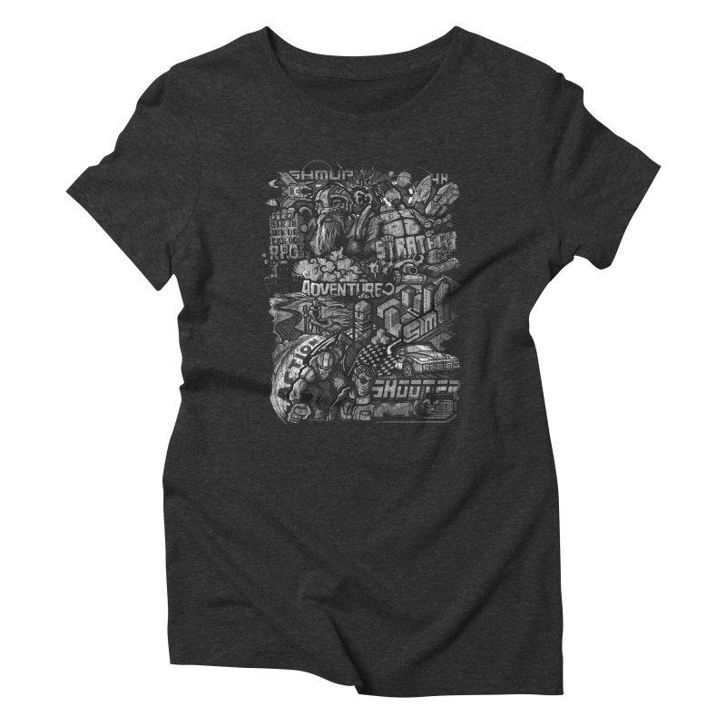 All round gamer Women's Triblend T-Shirt by wuhuli's Artist Shop