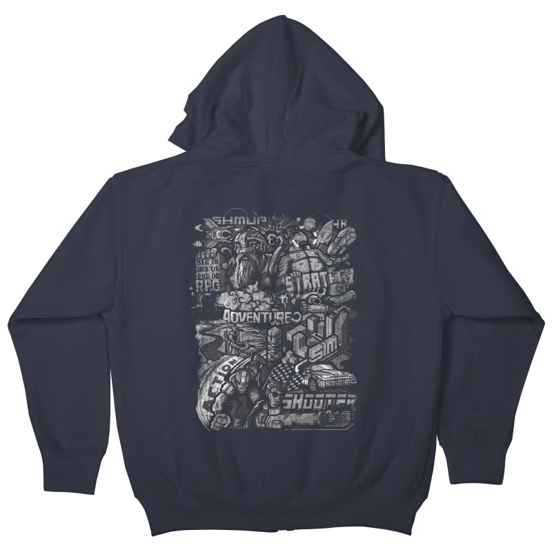 All round gamer Kids Zip-Up Hoody by wuhuli's Artist Shop