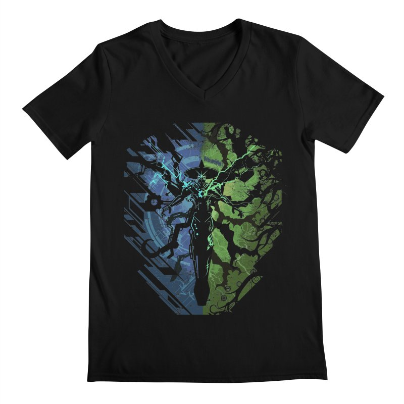TechnoArcane Men's V-Neck by wuhuli's Artist Shop