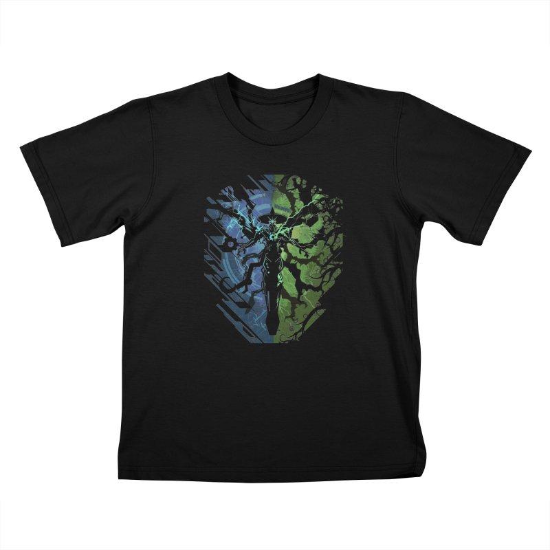 TechnoArcane Kids T-Shirt by wuhuli's Artist Shop