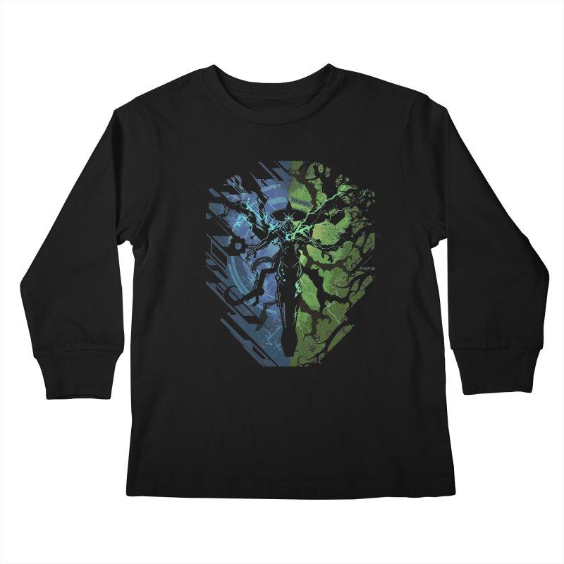 TechnoArcane Kids Longsleeve T-Shirt by wuhuli's Artist Shop