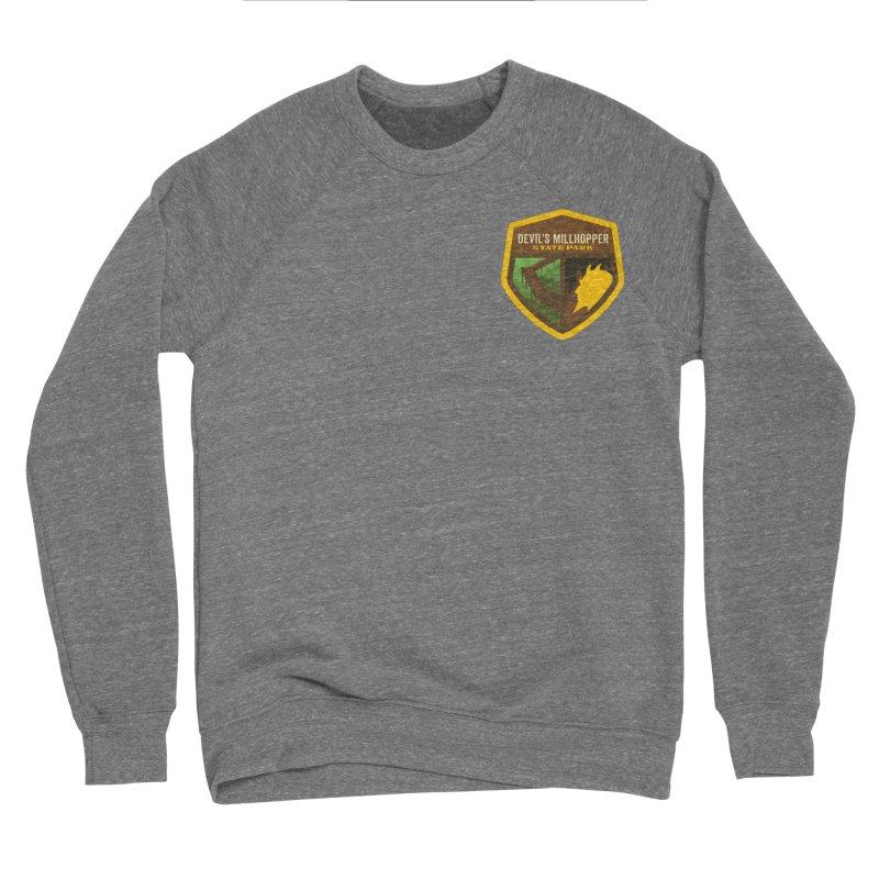 Devil's Millhopper State Park in Men's Sponge Fleece Sweatshirt Grey Triblend by Wunderland Tattoo