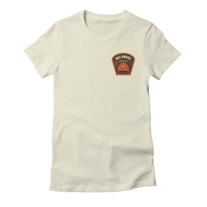 Bat House Women's Fitted T-Shirt by Wunderland Tattoo