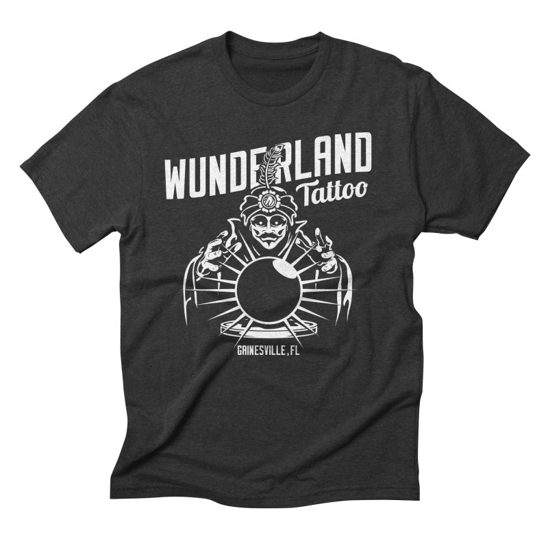 Swami in Men's Triblend T-Shirt Heather Onyx by Wunderland Tattoo