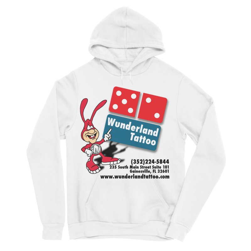 Wunderland Pizza Women's Sponge Fleece Pullover Hoody by Wunderland Tattoo