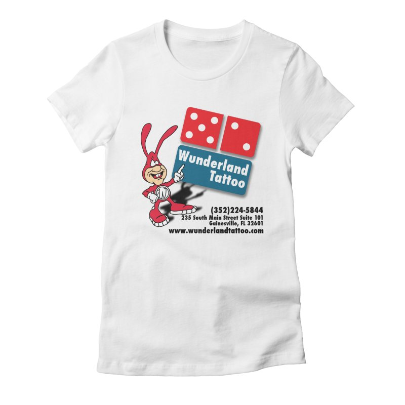 Wunderland Pizza Women's Fitted T-Shirt by Wunderland Tattoo