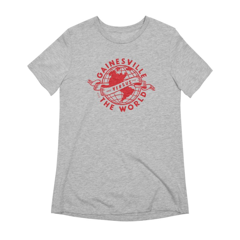 Gainesville vs The World Women's Extra Soft T-Shirt by Wunderland Tattoo