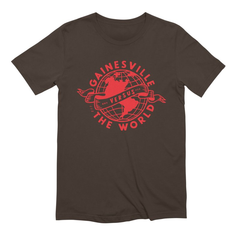 Gainesville vs The World Men's Extra Soft T-Shirt by Wunderland Tattoo