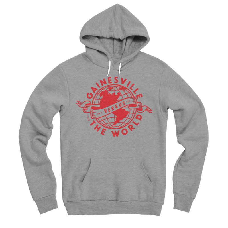 Gainesville vs The World Men's Sponge Fleece Pullover Hoody by Wunderland Tattoo
