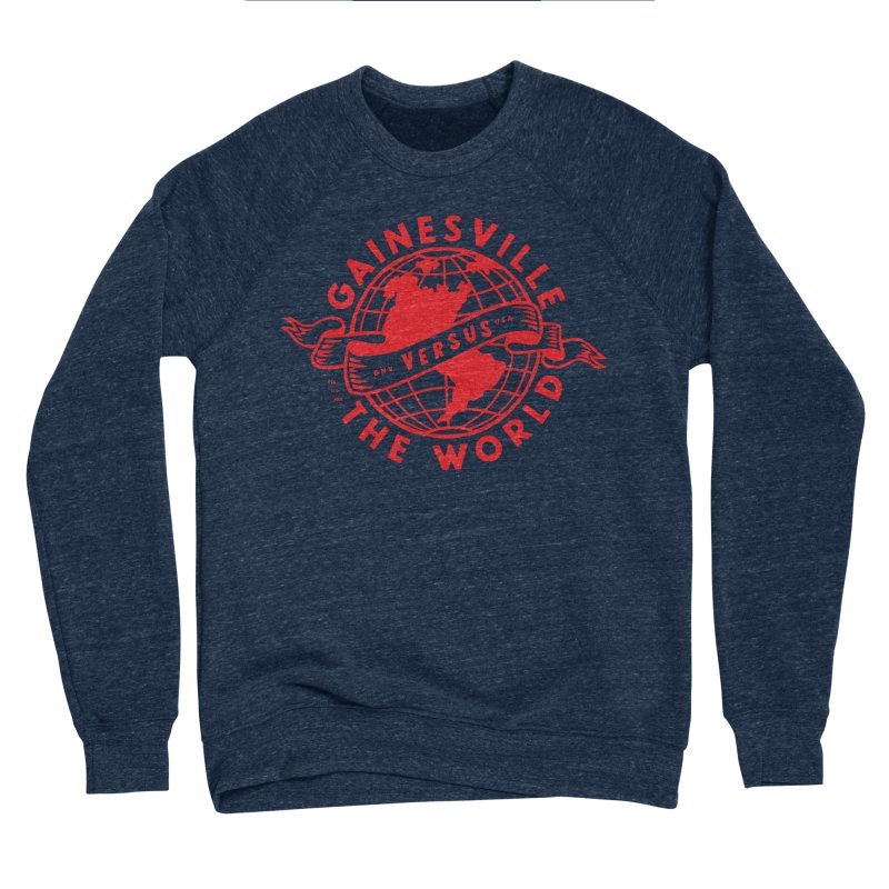 Gainesville vs The World Men's Sponge Fleece Sweatshirt by Wunderland Tattoo