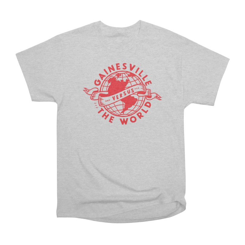 Gainesville vs The World Men's Heavyweight T-Shirt by Wunderland Tattoo