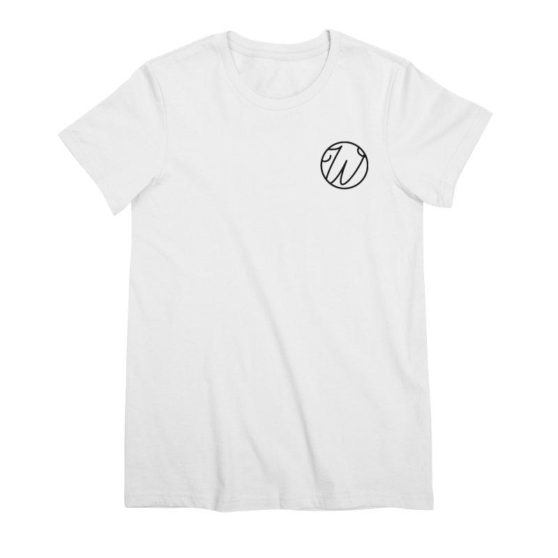 Wunderland Logo Women's Premium T-Shirt by Wunderland Tattoo
