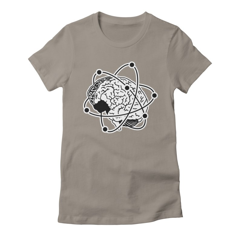 Brain Women's Fitted T-Shirt by Wunderland Tattoo