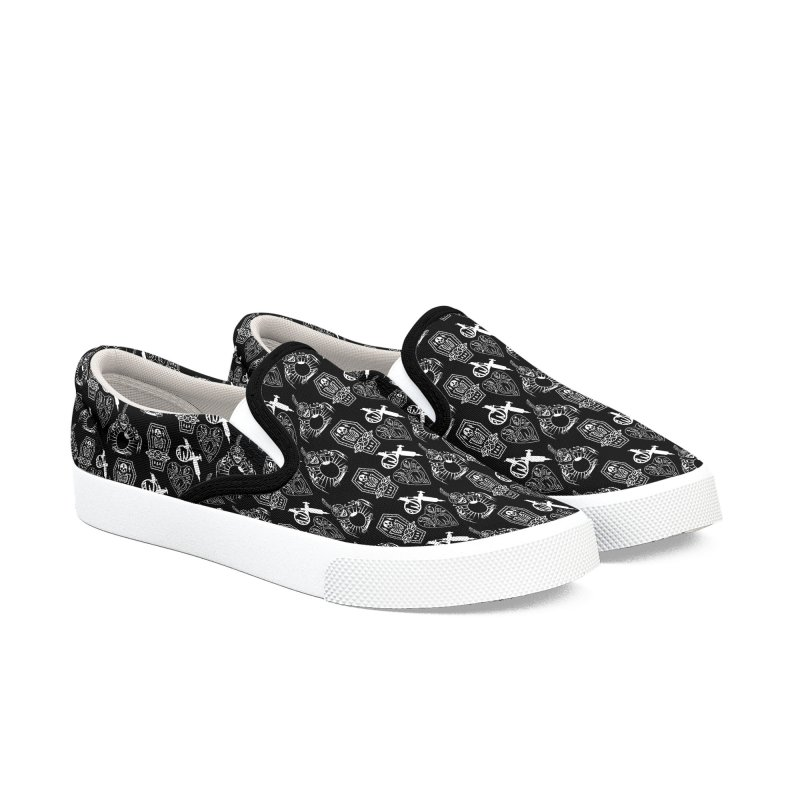 Wunderland Shoes Men's Slip-On Shoes by Wunderland Tattoo