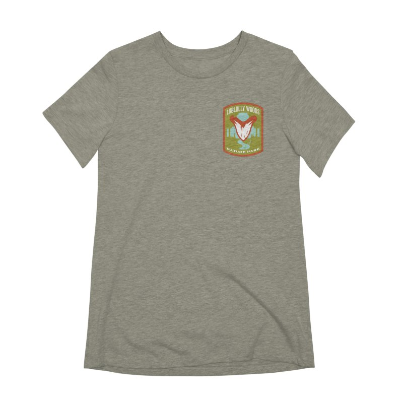 Loblolly Woods in Women's Extra Soft T-Shirt Heather Stone by Wunderland Tattoo
