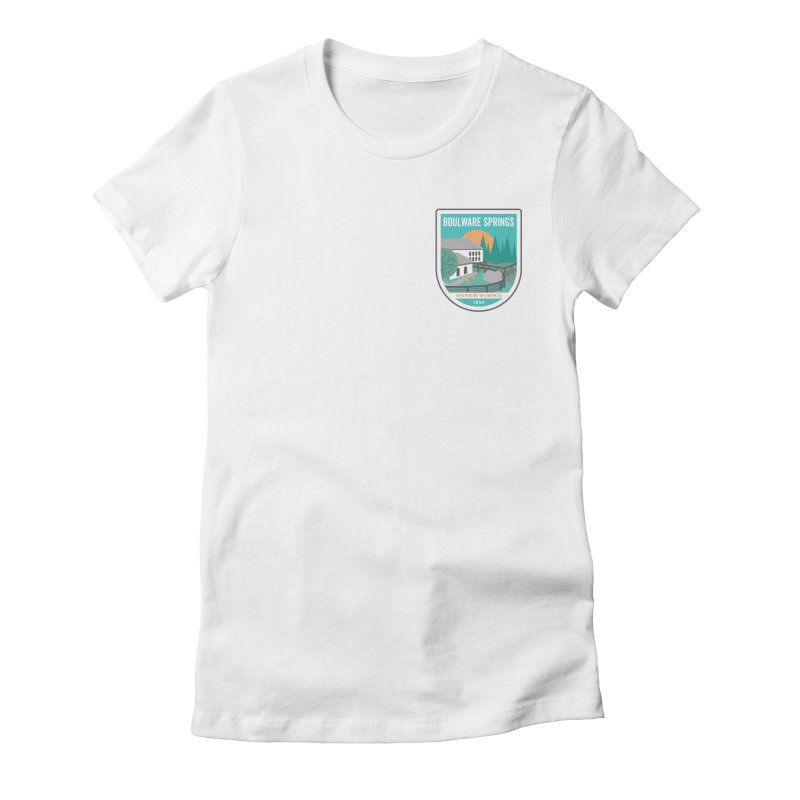 Boulware Springs Women's Fitted T-Shirt by Wunderland Tattoo