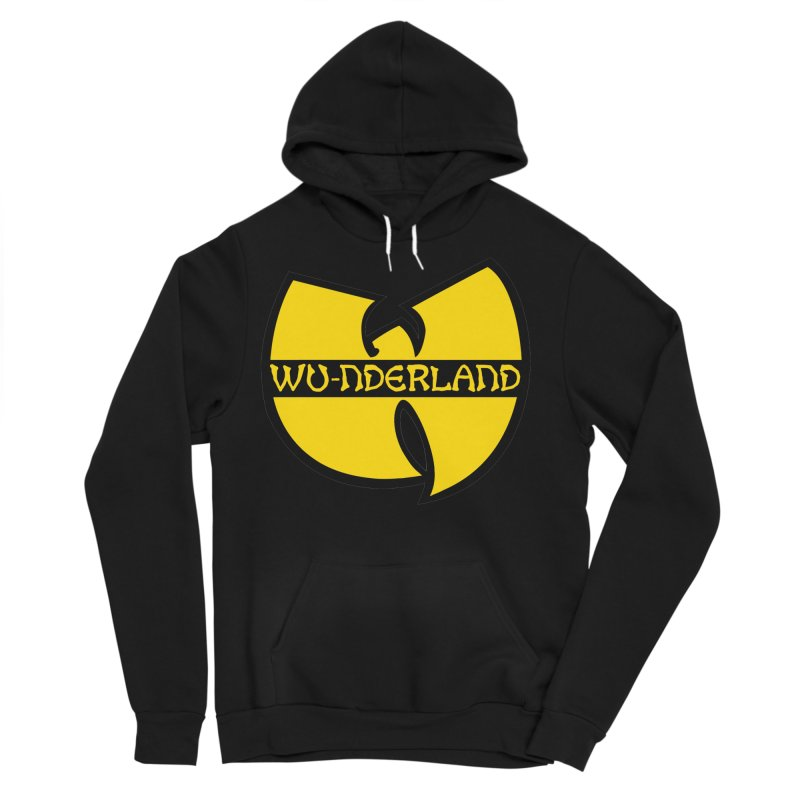 Wu-nderland Men's Sponge Fleece Pullover Hoody by Wunderland Tattoo