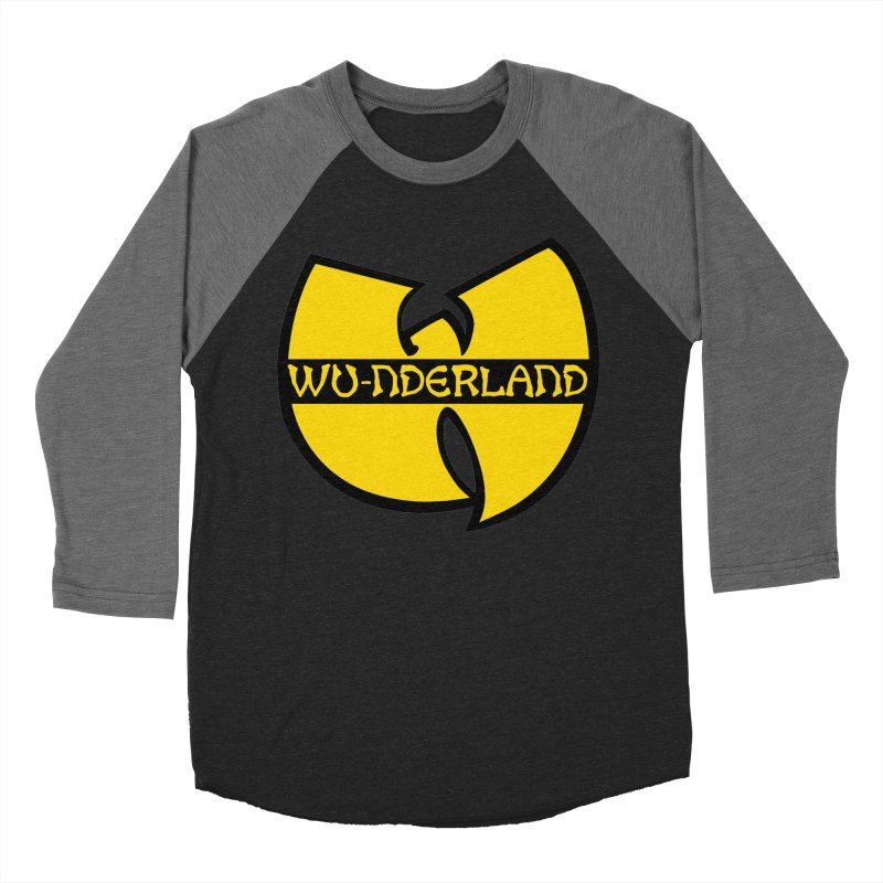 Wu-nderland Men's Baseball Triblend Longsleeve T-Shirt by Wunderland Tattoo