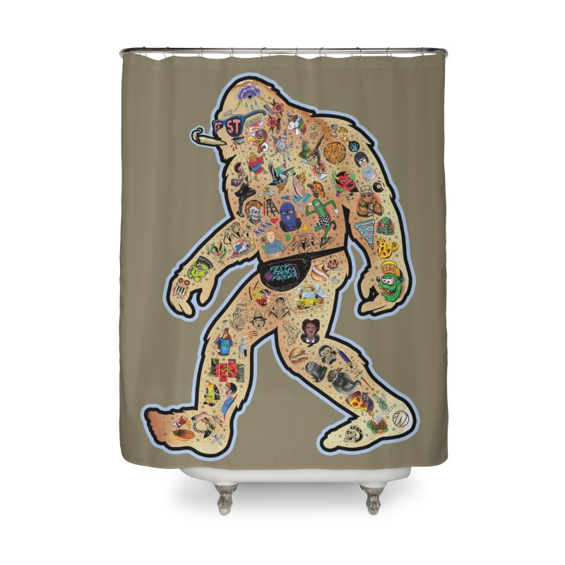 Fest Squatch Home Shower Curtain by Wunderland Tattoo