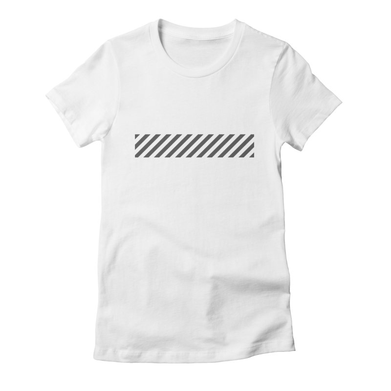 Warning! Women's Fitted T-Shirt by WhileYouWereAway