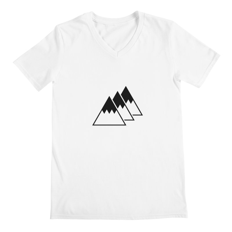 Alps Men's V-Neck by WhileYouWereAway