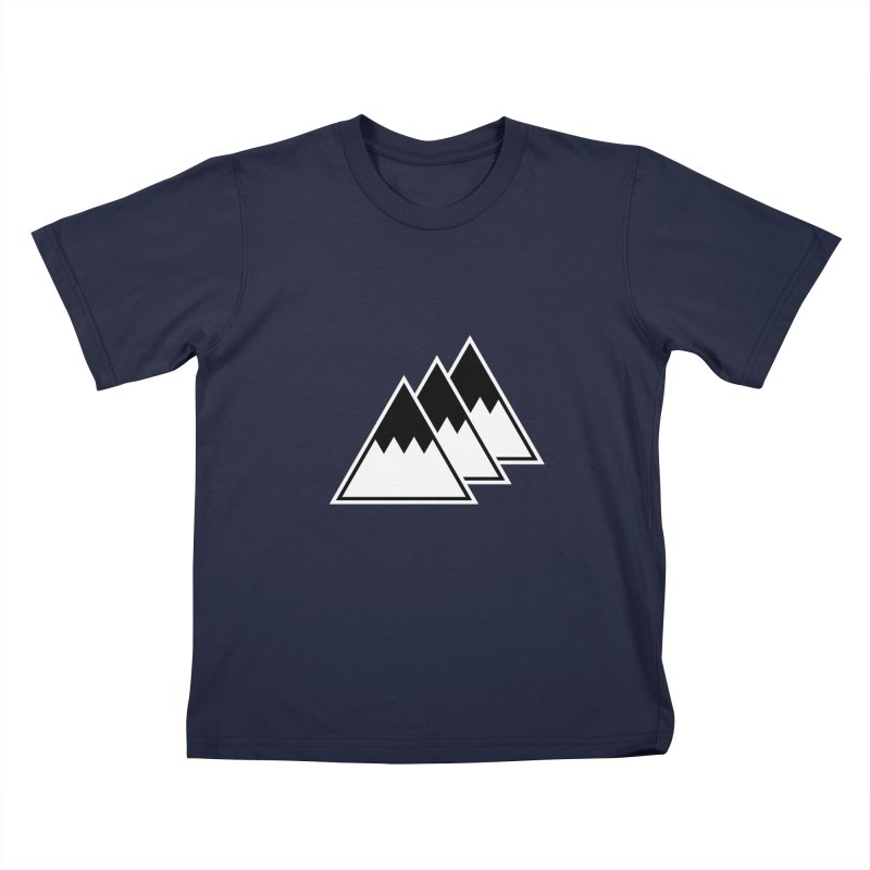 Alps Kids T-shirt by WhileYouWereAway