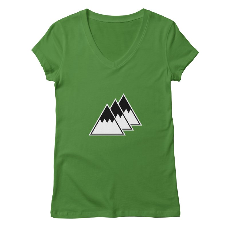 Alps Women's V-Neck by WhileYouWereAway